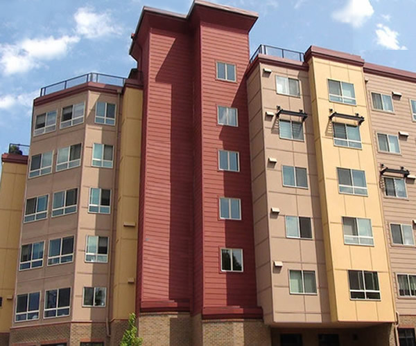 Photo of Victoria Park apartments.